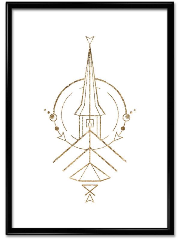 Plakat Poster Rygge kirke